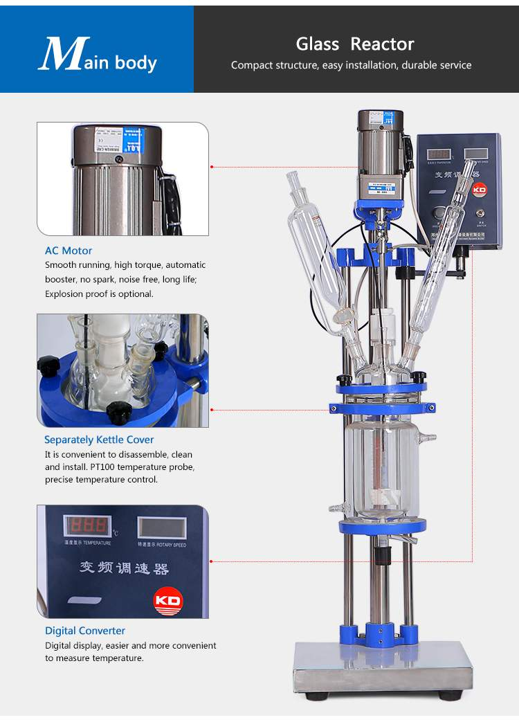 jacketed glass reactor laboratory