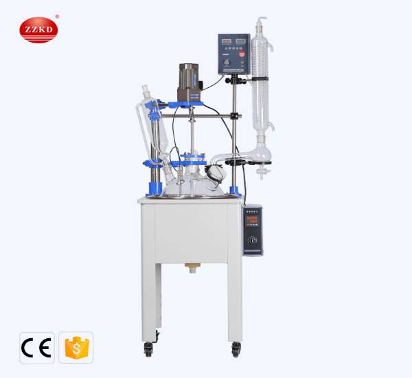 ZZKD is only for manufacturing high-quality F-10L-50L laboratory single-layer glass reactors, which are ideal equipment for the production of synthetic drugs and biochemical experiments.